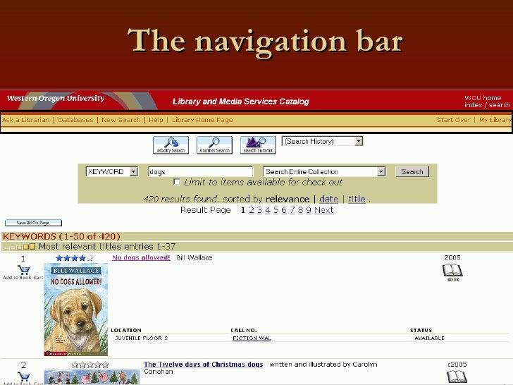 The navigation bar