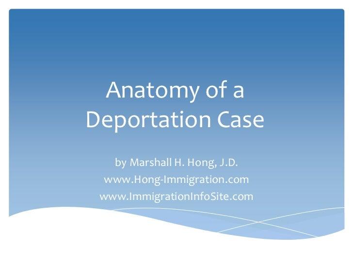 Anatomy of a Deportation Case