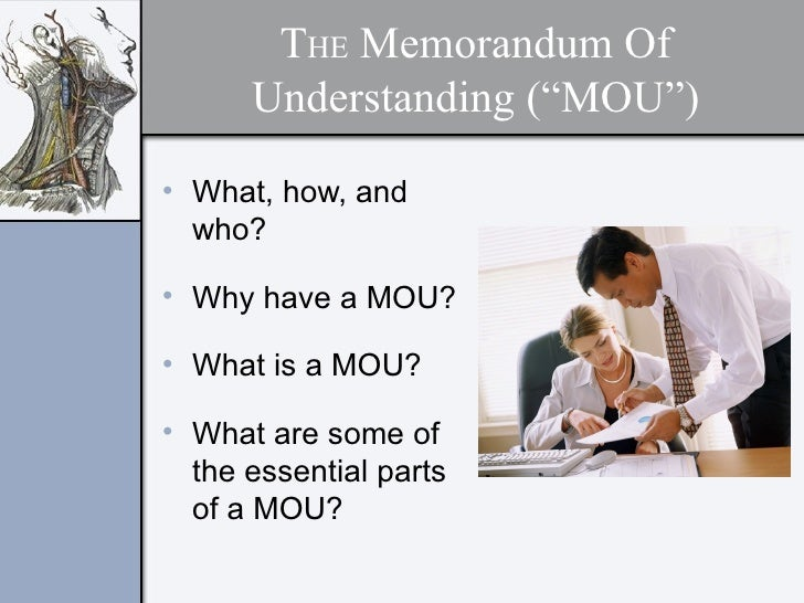 group project memorandum of understanding