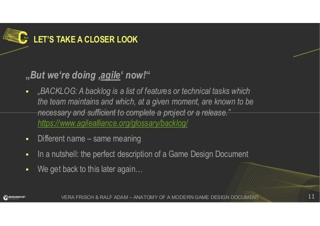 Anatomy of a Modern Game design Document - Ralf Adam, Vera Frisch - 4…
