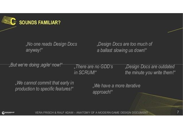 Anatomy Of A Modern Game Design Document Ralf Adam Vera Frisch - How to write a game design document
