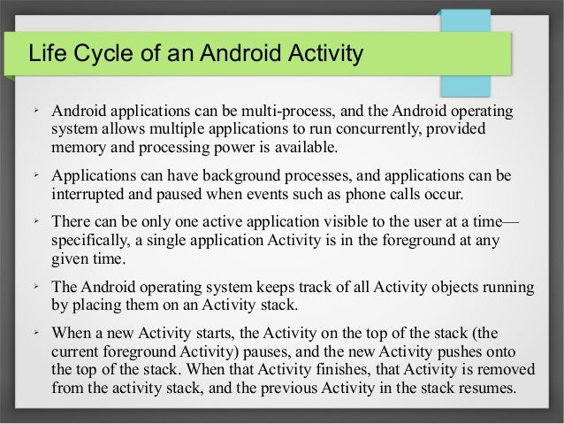 Anatomy Of Android Application