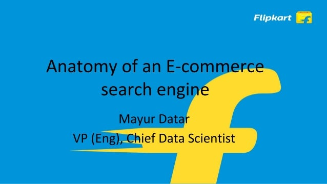 ● Search is one of the most important discovery tools in E-commerce. ● Powers other features like merchandising (promotion...
