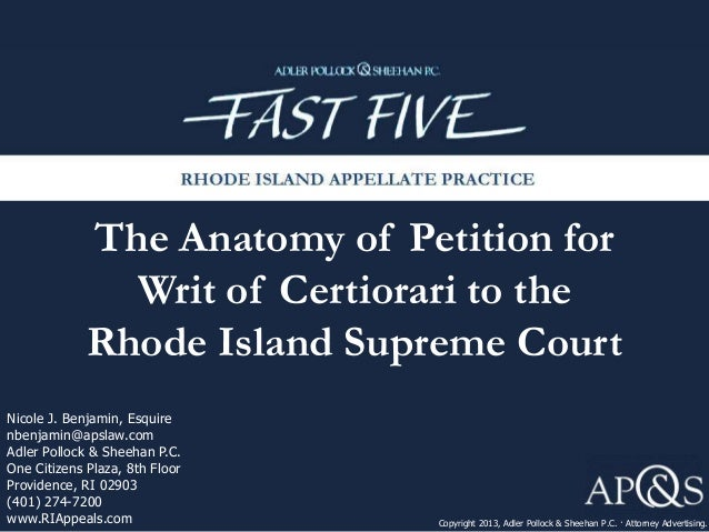 why does the supreme court reject the most of the petitions to grant certiorari