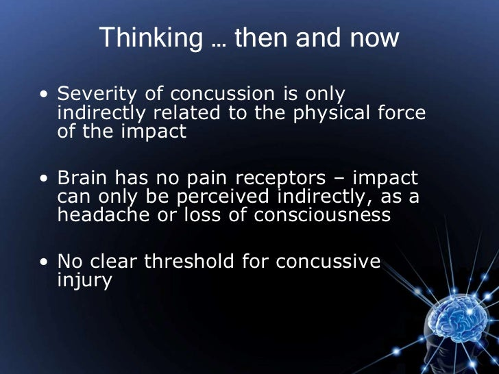 Anatomy of a concussion