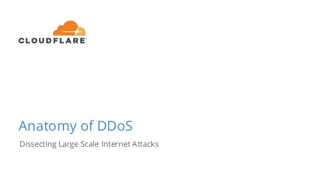 Anatomy of DDoS Dissecting Large Scale Internet Attacks