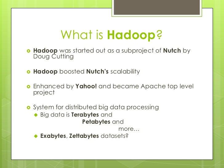 Anatomy of distributed computing with Hadoop Slide 2