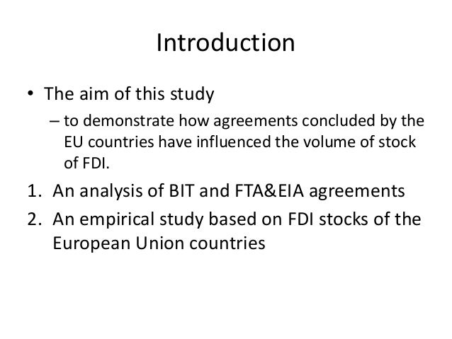 Anatomy Of Investment Agreements Of The European Union