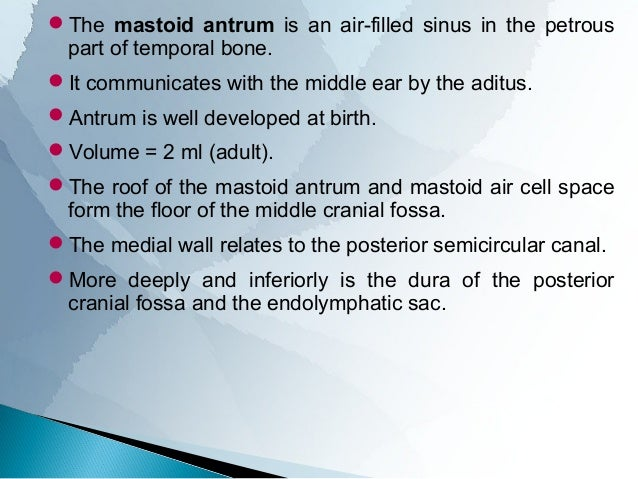 ANATOMY OF MIDDLE EAR CLEFT