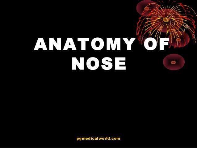 ANATOMY OF NOSE pgmedicalworld.com