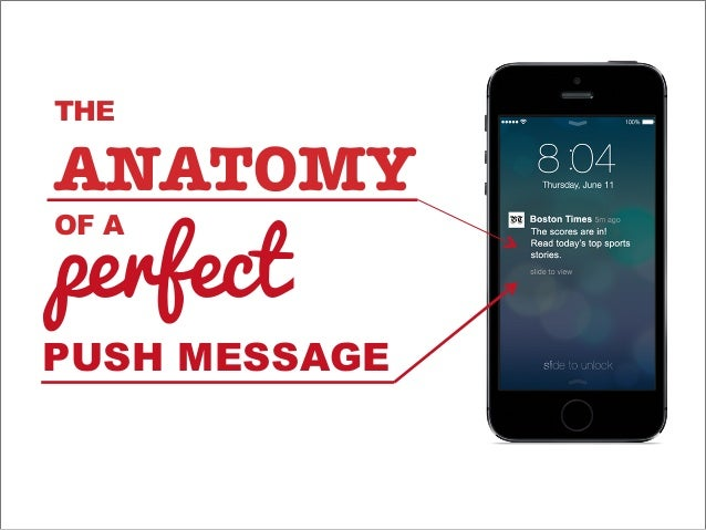 THE ANATOMY! OF A PUSH MESSAGE perfect