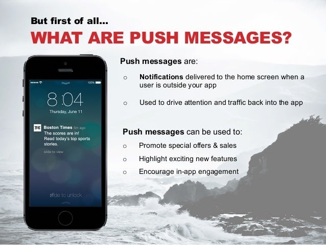 what are push messages