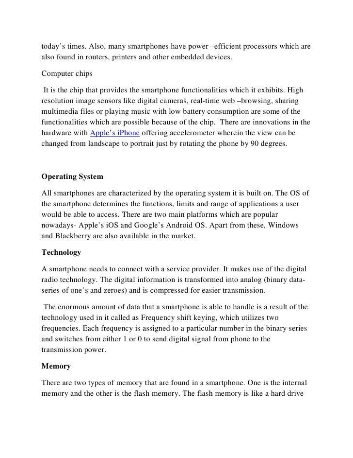 Anatomy Of Smartphones How Smartphones Work