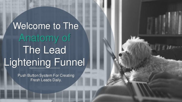 Anatomy of The Lead Lightening Funnel Welcome to The Push Button System For Creating Fresh Leads Daily.