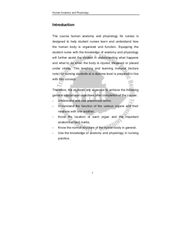 Increíble Lecture Notes On Human Anatomy And Physiology Pdf Bandera ...
