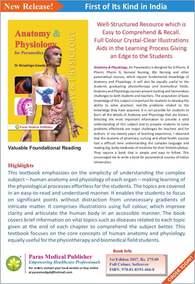 Anatomy & physiology brochure
