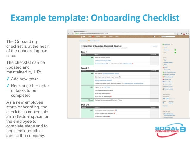 Example Template: Onboarding Checklist ...