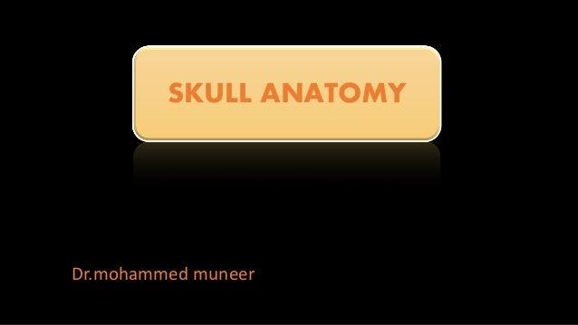Dr.mohammed muneer SKULL ANATOMY