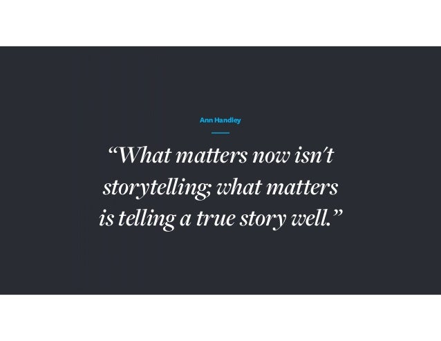 The Anatomy Of A Story