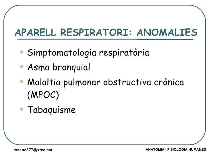 Patologia dels aparells respiratori, digestiu, excretor Slide 2