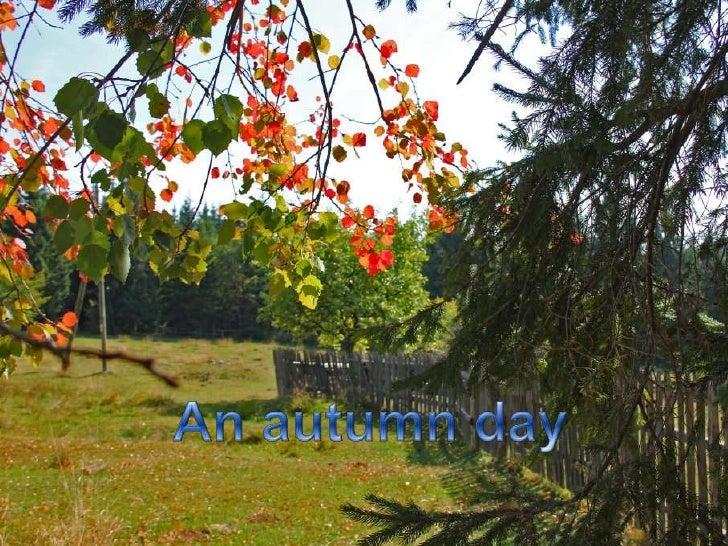 An autumnday<br />