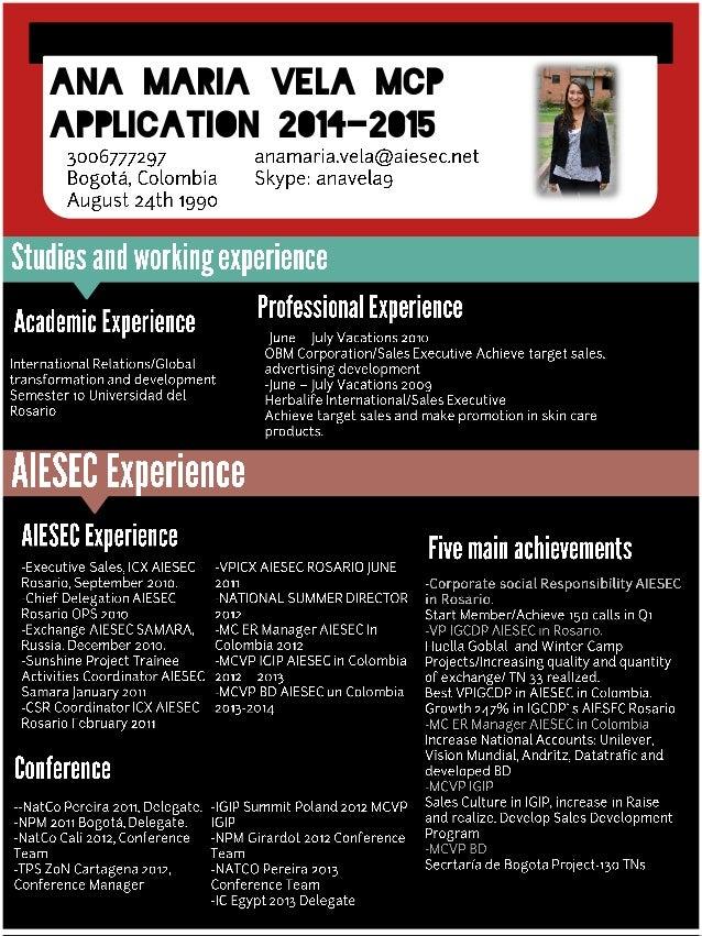 Ana maria vela Mcp Application 2014-2015