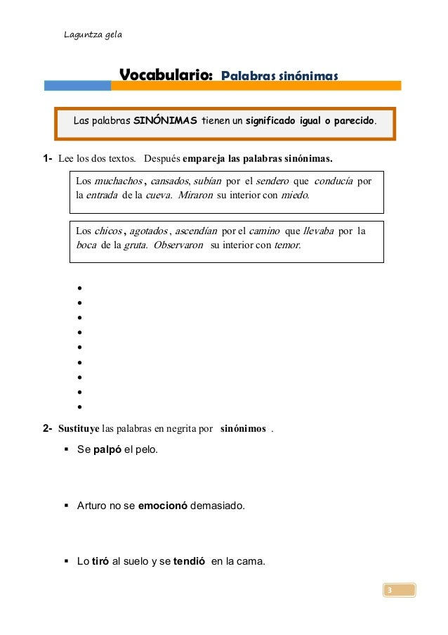Anaya lengua 5 tema 2 for Interior sinonimos