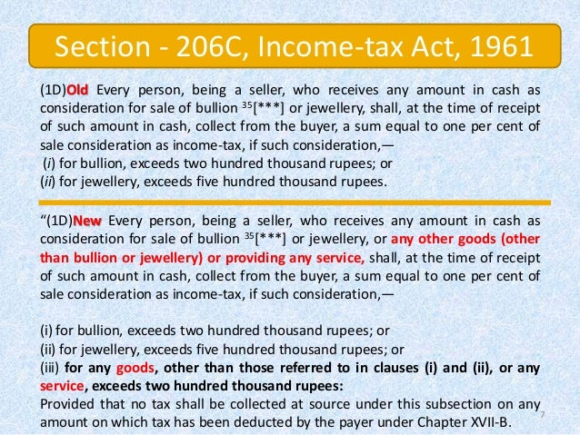 FAQ's & ANALYSIS OF PROVISION OF SECTION -206 ON CASH SALE ...