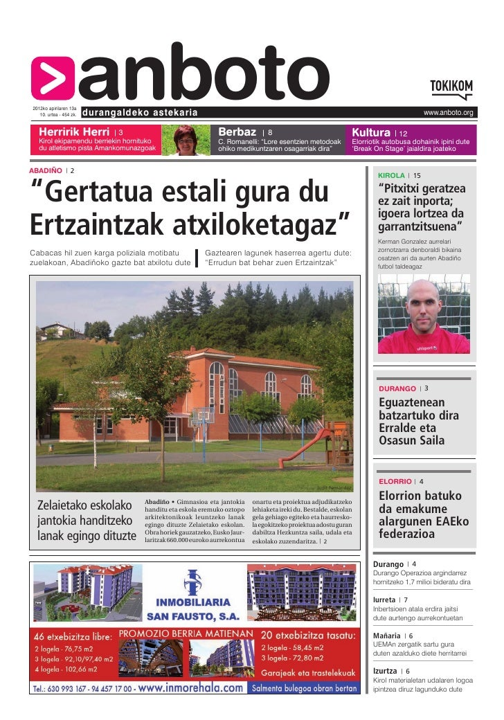 2012ko apirilaren 13a   10. urtea - 454 zk.   Herririk Herri                      anboto                         durangald...