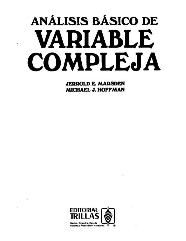 ANALISIS BASICO DE VARIABLE COMPLEJA.MARSDEN PDF