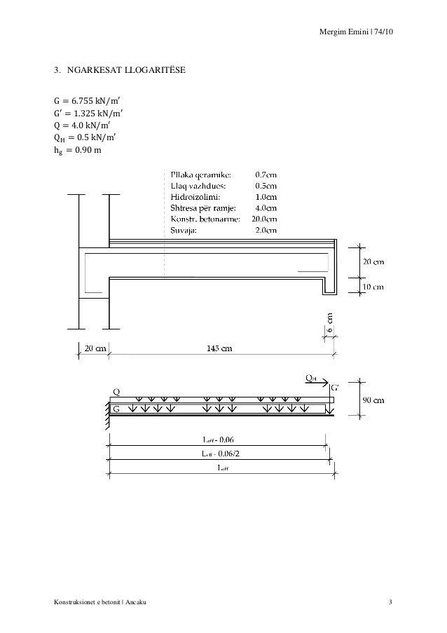 Mergim Emini | 74/10  3. NGARKESAT LLOGARITËSE  Konstruksionet e betonit | Ancaku  3