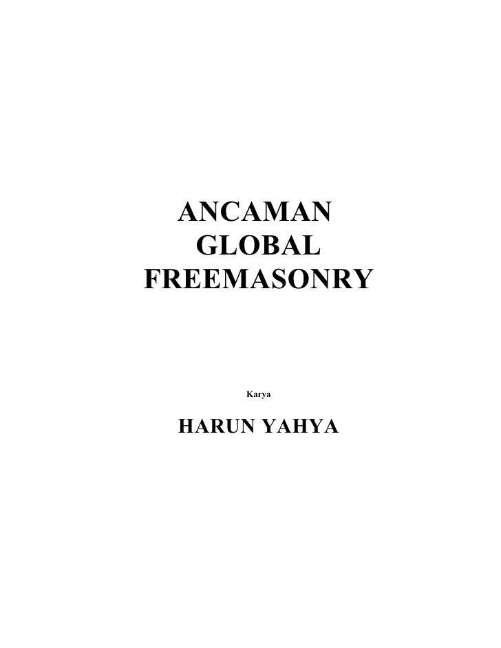 ANCAMAN   GLOBALFREEMASONRY     Karya HARUN YAHYA