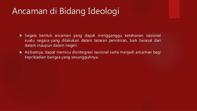 Makalah Ancaman Integrasi Nasional Dalam Berbagai Bidang Nofi13