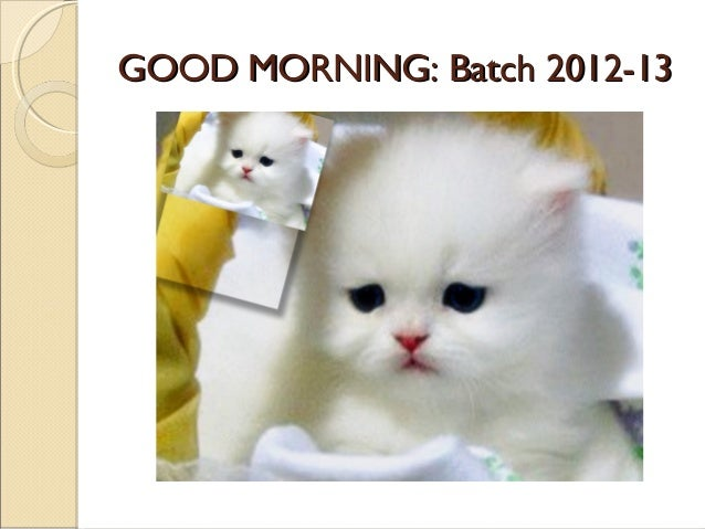 GOOD MORNING: Batch 2012-13