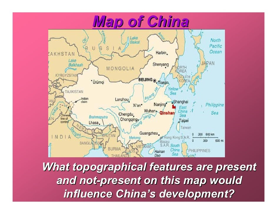 what geographic features influenced the development of china s civilization Geography yangzi river modern china is a vast country  china's lowest point is in the turfan depression, at -154 metres below sea level.