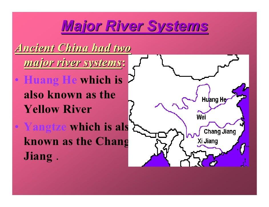 Anc China - 2 major rivers