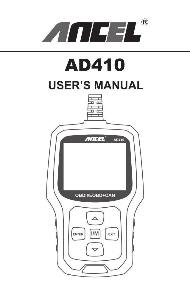 Ancel AD410 Enhanced OBDII scan tool