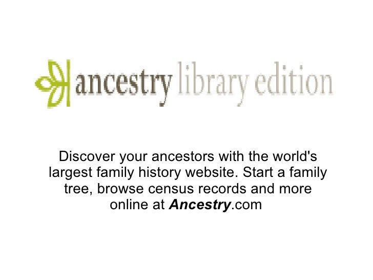 Discover your ancestors with the world's largest family history website. Start a family tree, browse census records and mo...