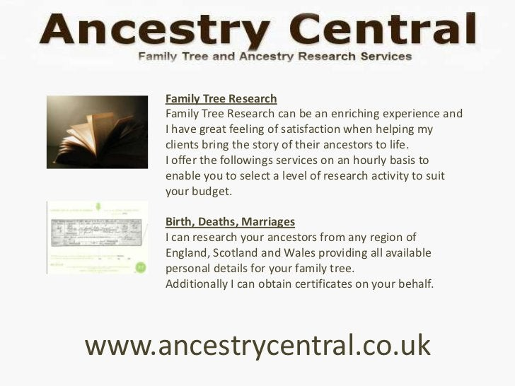 Family Tree Research     Family Tree Research can be an enriching experience and     I have great feeling of satisfaction ...