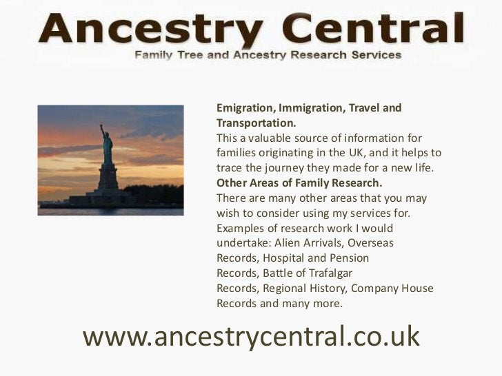 Emigration, Immigration, Travel and         Transportation.         This a valuable source of information for         fami...