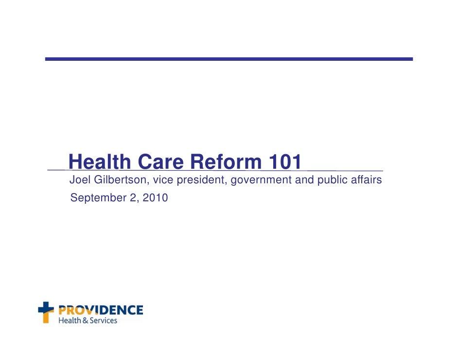 Health Reform 101