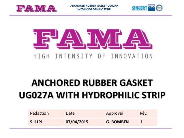Anchored rubber gasket UG027A presentation
