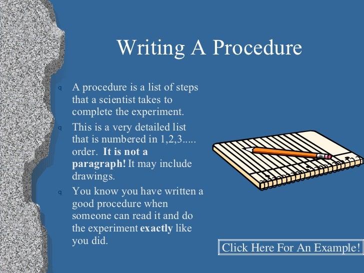 writing science procedures worksheet