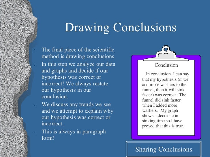 how to draw a conclusion in science