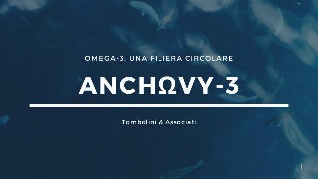 OMEGA-3: UNA FILIERA CIRCOLARE ANCHΩVY-3 Tombolini & Associati 1
