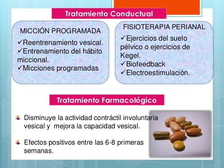Tratamiento Conductual                                  FISIOTERAPIA PERIANALMICCIÓN PROGRAMADA                           ...