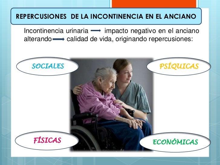 REPERCUSIONES DE LA INCONTINENCIA EN EL ANCIANO  Incontinencia urinaria     impacto negativo en el anciano  alterando     ...