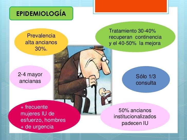 EPIDEMIOLOGÍA                     Tratamiento 30-40%   Prevalencia       recuperan continencia  alta ancianos      y el 40...