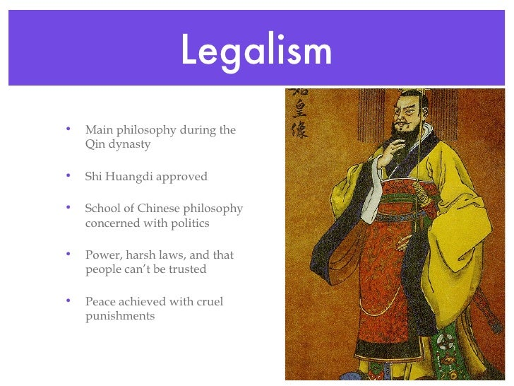 legalism in china Legalism and confucianism: since the han dynasty, most chinese imperial governments used a mix of legalism and confucianism as their ruling doctrine often, confucian.