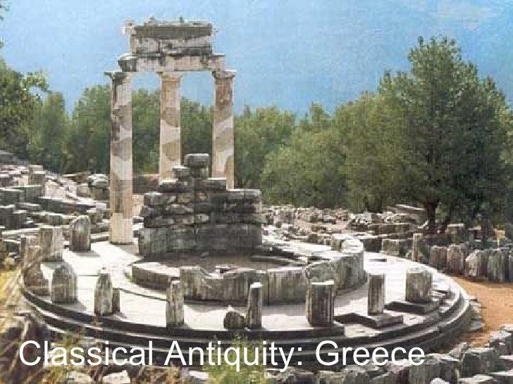 Classical Antiquity: Greece